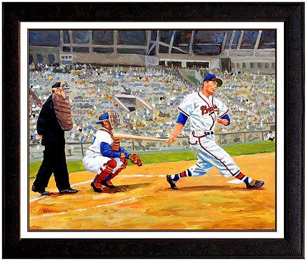 """Hall-Of-Famer Eddie Mathews"" by Dick Perez"