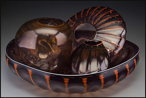 """Original 4 Piece Glass Seaform Set"" by Dale Chihuly"
