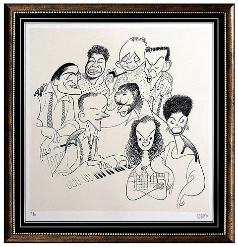 """American Popular Song: Great American Singers ll"" by Al Hirschfeld"