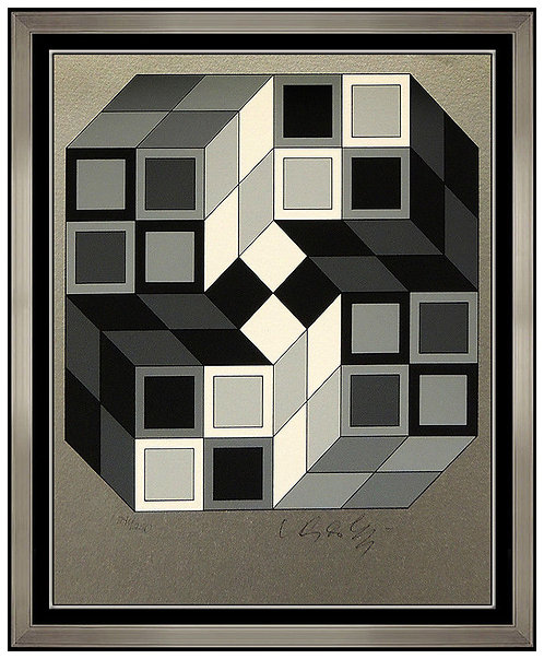 """Composition Silver"" by Victor Vasarely"