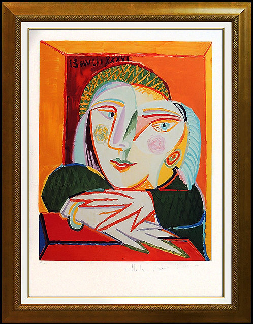"""""""Femme Accoudee a sa Fenetre"""" by Pablo Picasso"""