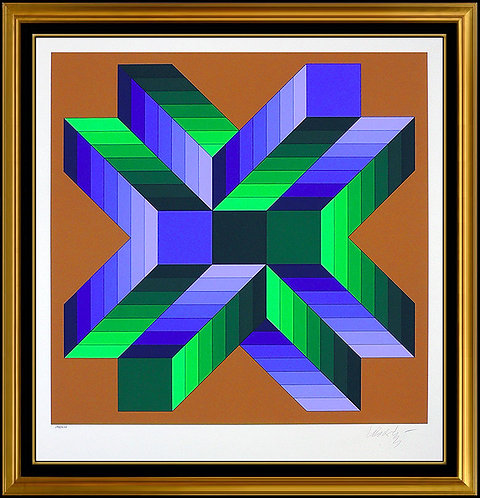 """Mata Fem"" by Victor Vasarely"