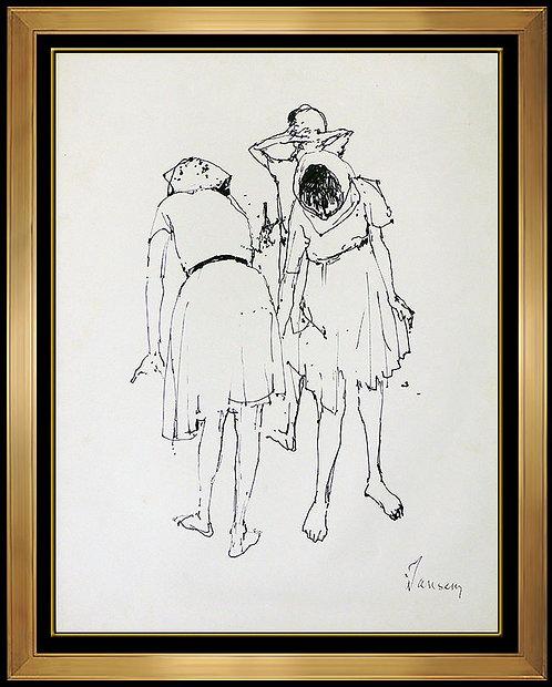 """Original Trois Femmes"" by Jean Jansem"
