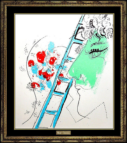 """The Ladder (m.200)"" by Marc Chagall"