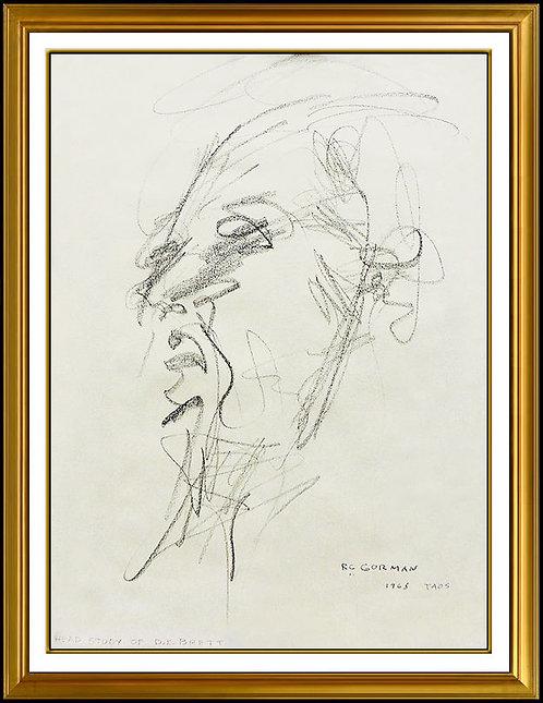 """Original Head Study of D.E Brett"" by R.C. Gorman"