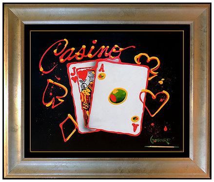 """Original Casino Blackjack"" by Michael Godard"