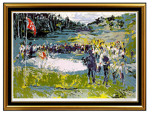 """Tournament Golf"" by Leroy Neiman"