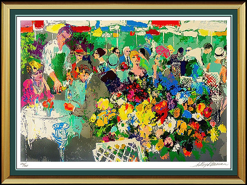"""Bistro Garden"" by Leroy Neiman"