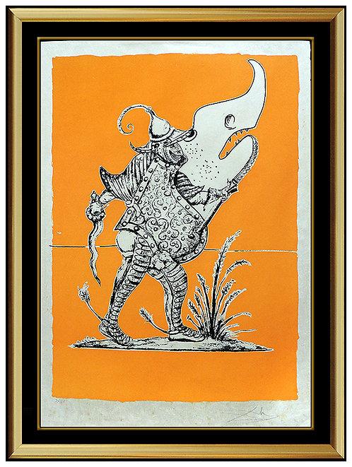 """""""Plate X (from Les Songes Drolatiques Dreams de Pantagruel)"""" by Salvador Dali"""