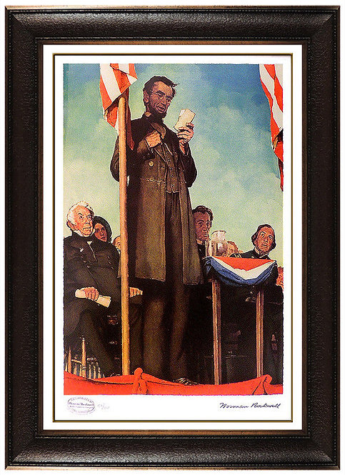 """Abraham Lincoln Delivering the Gettysburg Address"" by Norman Rockwell"