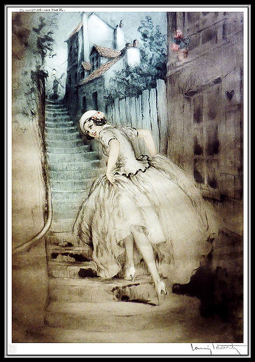 """Charm of Montmartre"" by Louis Icart"