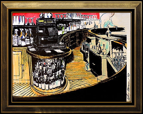 """Original Rush Street Bar"" by LeRoy Neiman"
