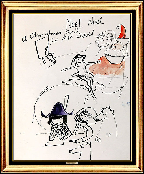 """Original Madeline - A Christmas Card for Miss Clavel"" by Ludwig Bemelmans"