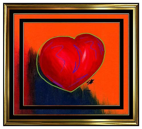"""Original Multi-Colored Heart"" by Steve Kaufman"