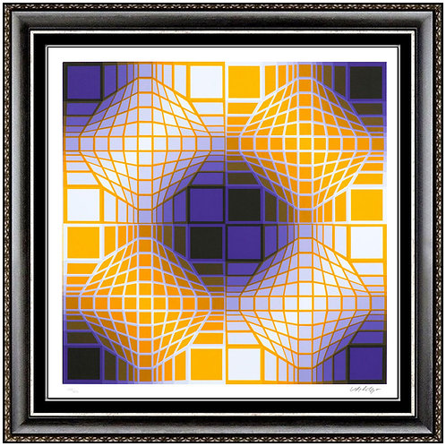 """Mely"" by Victor Vasarely"