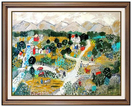 """Original Mountain Village"" by Charles Cobelle"