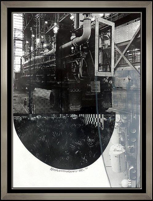 """Tracks"" by Robert Rauschenberg"