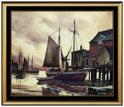 """""""Original Dusk Sets Over Gloucester"""" by John Cuthbert"""
