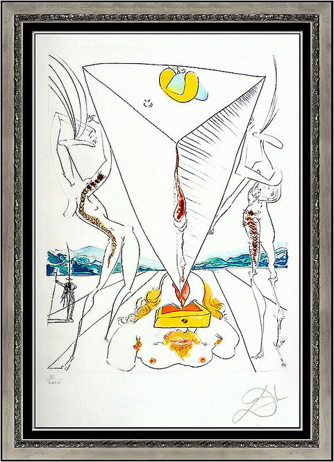 """""""Philosopher Crushed by the Cosmos"""" by Salvator Dali"""