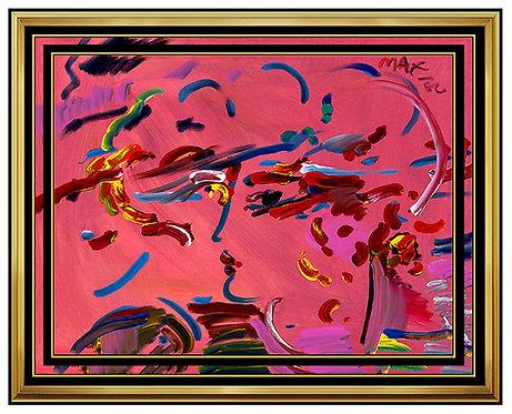 """Original Blushing Beauty Profile"" by Peter Max"