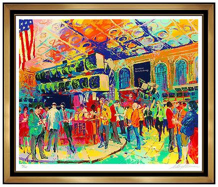 """""""American Stock Exchange"""" by LeRoy Neiman"""