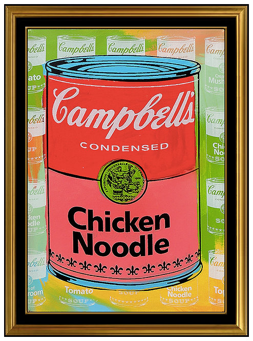 """Original Campbell's Chicken Noodle"" by Steve Kaufman"