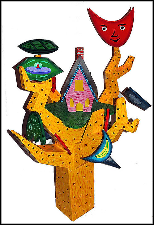 """Original Fun In the Tree"" by Rodney Alan Greenblat"