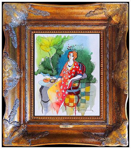 """Original Garden Cafe"" by Itzchak Tarkay"