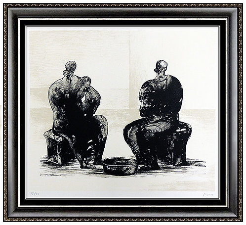 """Two Women Bathing Child II"" by Henry Moore"