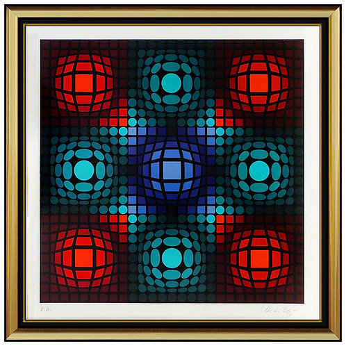 """Dyevat"" by Victor Vasarely"