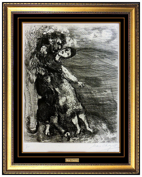 """Fables de La Fontaine: The Lion In Love"" by Marc Chagall"
