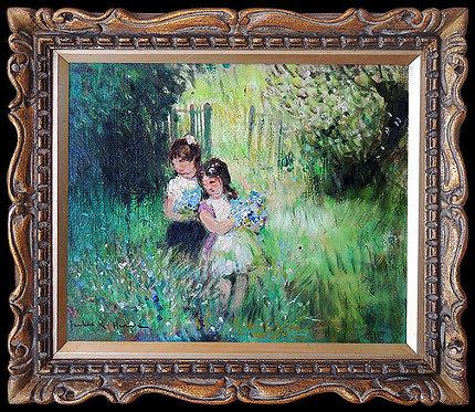 """""""Original Prairie Of Flowers"""" by Jules R. Herve"""