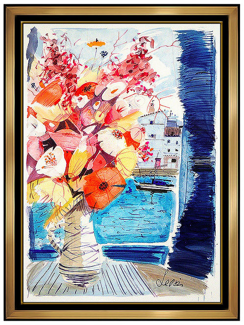 """Original Flowers by the Windows"" by Charles Levier"