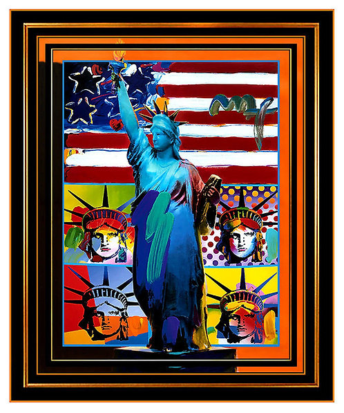 """""""FULL LIBERTY WITH LIBERTY HEADS"""" by Peter Max"""