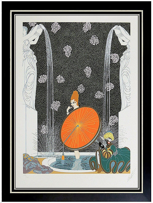 """The Bath of the Marquise"" by Erte"