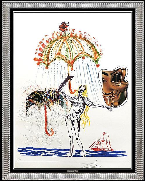"""Anti- Umbrella with Atomized Liquid"" by Salvador Dali"