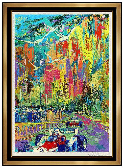 """Grand Prix de Monaco"" by LeRoy Neiman"