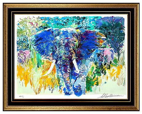 """Bull Elephant"" by Leroy Neiman"