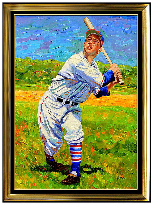 """""""Hall-Of-Famer Lou Boudreau"""" by Dick Perez"""