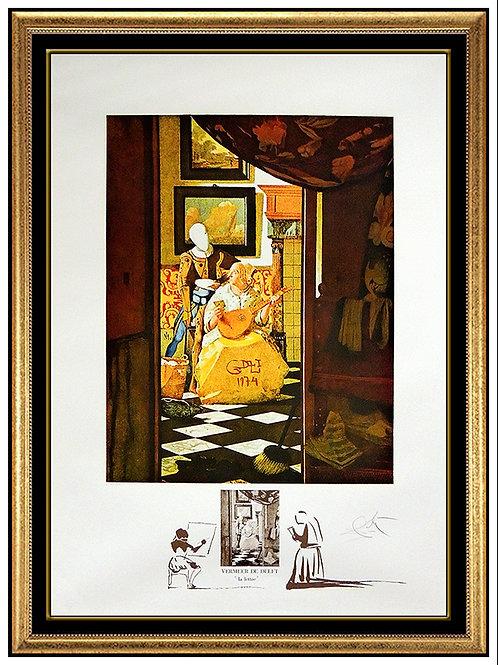 """""""Vermeer: La Lettre"""" by Salvador Dali"""