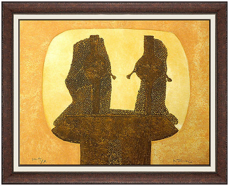 """Dos Figuras (P.205)"" by Rufino Tamayo"