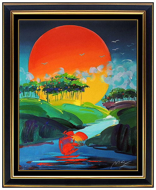 """Without Borders"" by Peter Max"