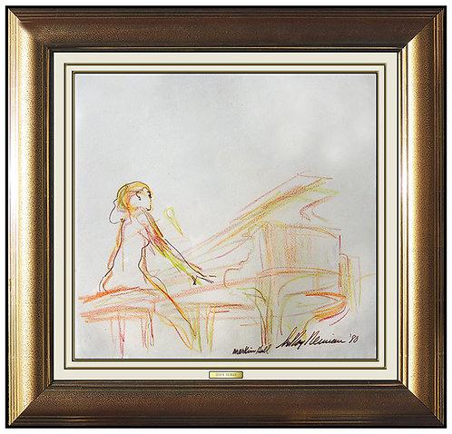 """Lydia on the Piano, Merkin Hall 1980"" by Leroy Neiman"