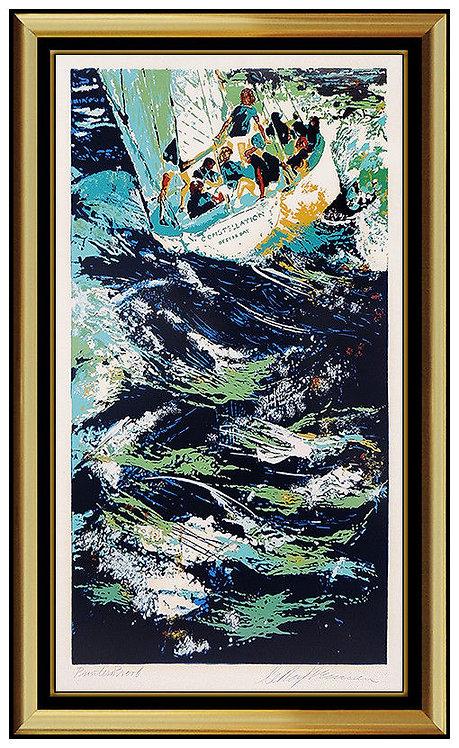 """""""Twelve Meter Yacht Race"""" by LeRoy Neiman"""