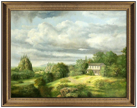 """""""Original Home on the Hill"""" by Raymond Bayless"""