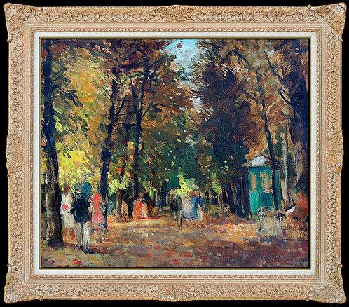 """Promenade au Jardin de Luxembourg"" by Francois Gall"
