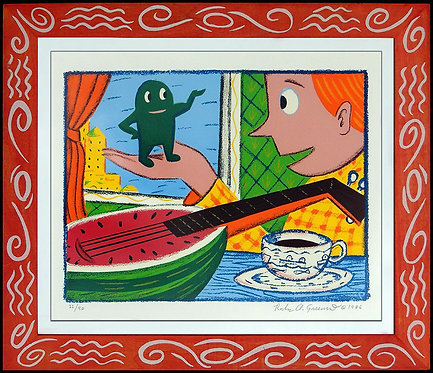 """""""Mr. Whatever and the Watermelon Mandolin"""" by Rodney Greenblat"""