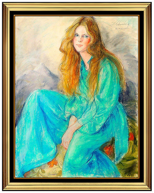 """Original Beauty in a Blue Dress"" by Sheldon SC Schoneberg"