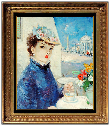 """Original Tea Time In Paris"" by Pal Fried"