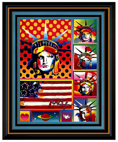 """Five Liberties, Flag with Heart"" by Peter Max"